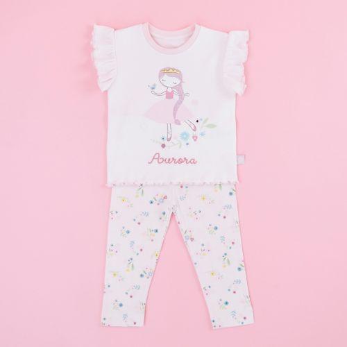 Personalised Children's Pink Princess Pyjamas Set