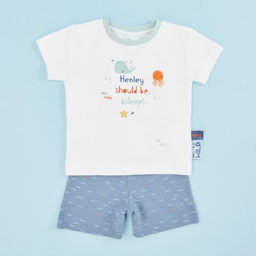 Personalised Children's Sea Life Friends Short Pyjamas Set