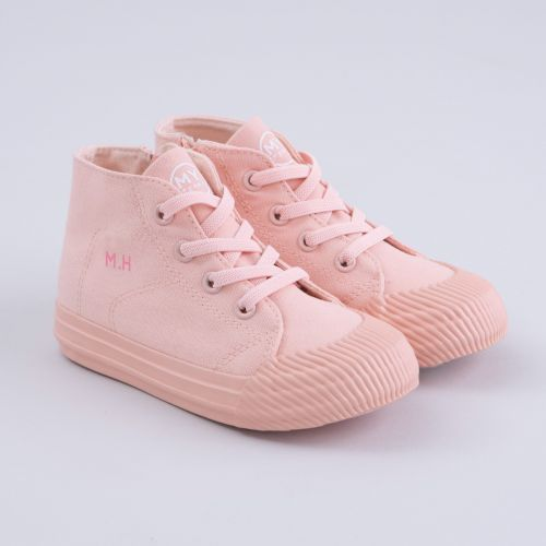 Personalised Pink Kids High Top Trainers