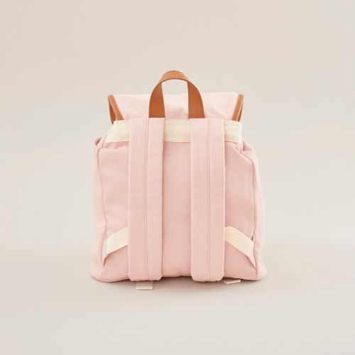 Personalised Pink Canvas Backpack