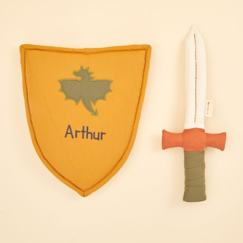Personalised Fabelab Shield and Sword Dress Up Gift Set