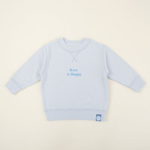 Personalized Blue Slogan Sweatshirt