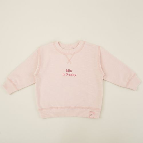 Personalised Pink Slogan Sweatshirt