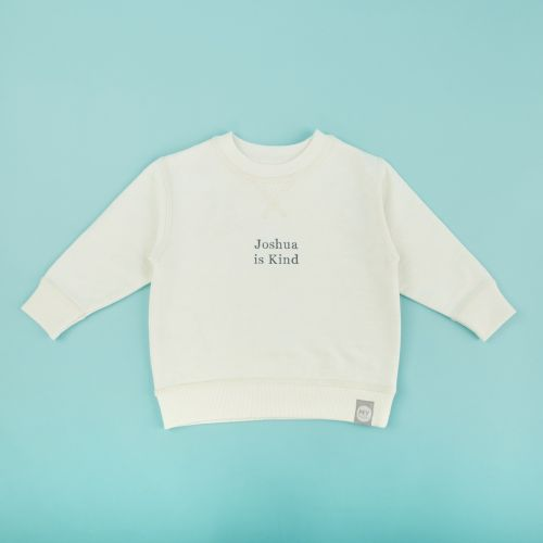 Personalized Ivory Slogan Sweatshirt
