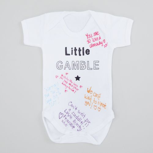 Personalised Baby Shower Bodysuit