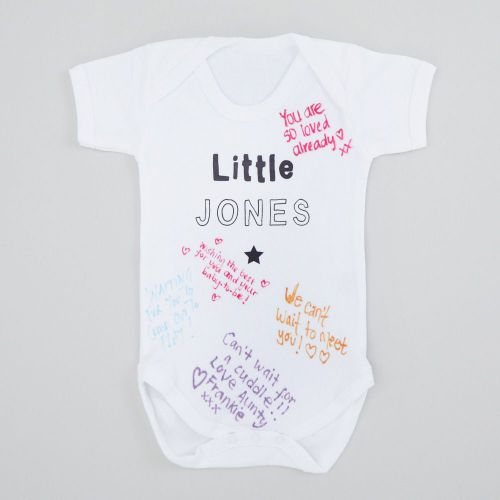 Personalized Baby Shower Bodysuit