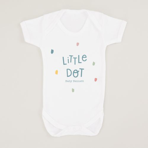 Personalized White Little Dot Design Bodysuit