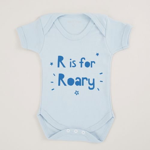 Personalized Blue Letter' Is A 'Name' Bodysuit
