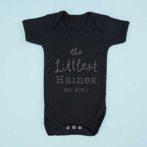 Personalised Black 'Letter' is for 'Name' Bodysuit