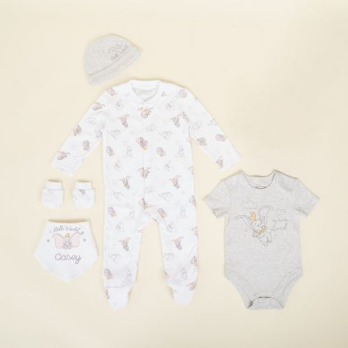 Personalised Disney Dumbo Complete Baby Outfit Set (5 piece)