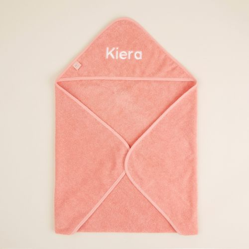 Personalized Small Coral Hooded Towel