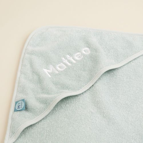 Personalised Small Mint Hooded Towel