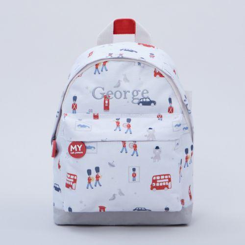 Personalised Little London Print Mini Backpack