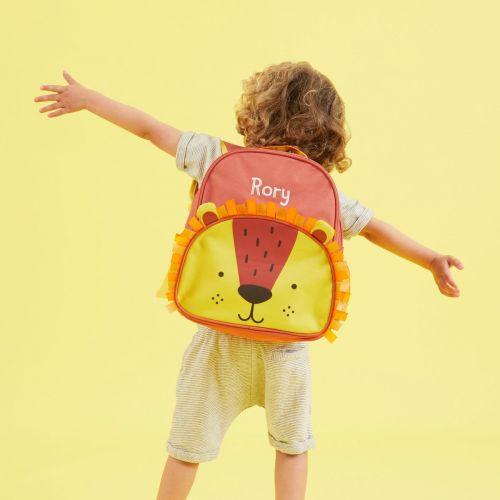 Personalised Colourful Lion Medium Backpack