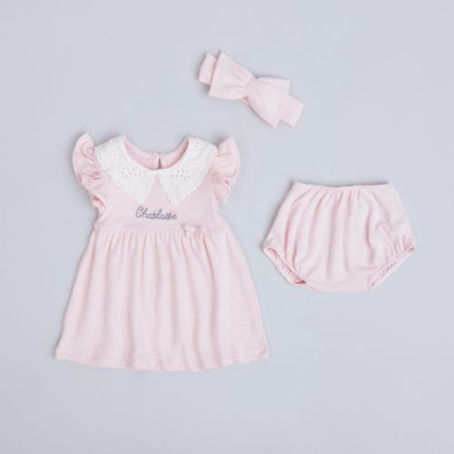 Personalised Pink Dress Outfit Set