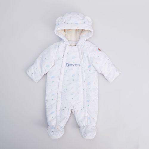 Personalised Ivory Little Bear Snowsuit