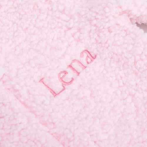 Personalised Pink Bunny Pramsuit