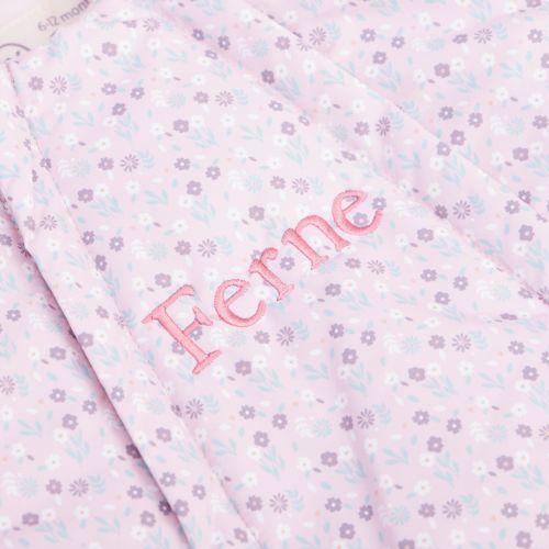 Personalised Pink Bunny Snowsuit