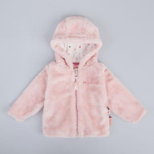 Personalised Pink Faux Fur Jacket