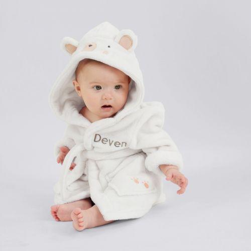 Personalised Polar Bear Fleece Dressing Gown