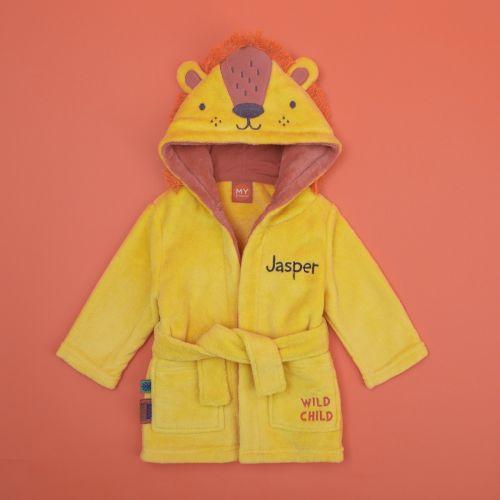 Personalised Lion Fleece Robe