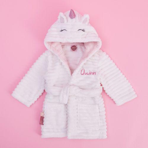 Personalised Unicorn Fleece Dressing Gown
