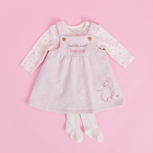 Personalised Flopsy Bunny Baby Outfit Set