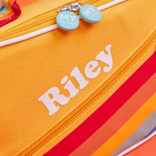 Personalised Yellow Rainbow Design Lunch Bag