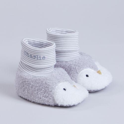 Personalised Penguin Baby Sock Tops