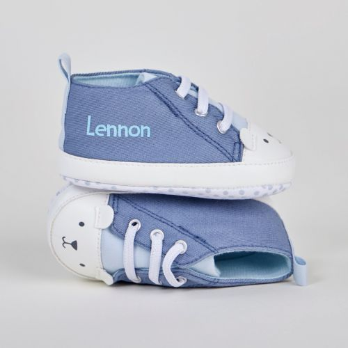 Trainers  Personalised Blue Bear High Top