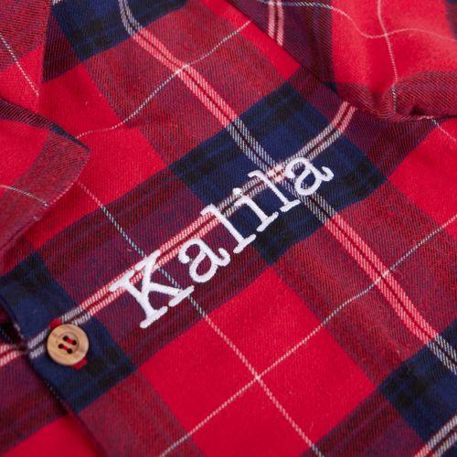 Personalised Red Check Pyjamas