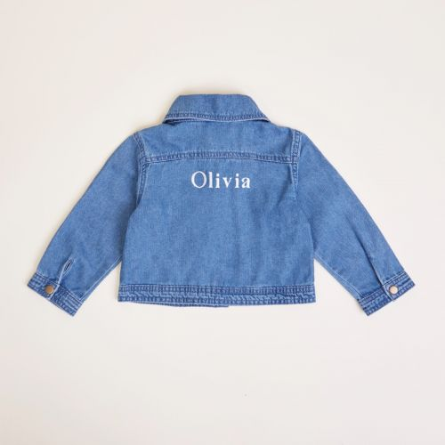 Personalised Blue Children's Denim Jacket