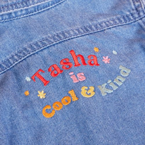 Personalised Cool Slogan Children's Denim Jacket