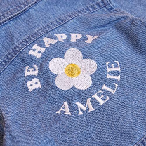 Personalised Daisy Design Children's Denim Jacket