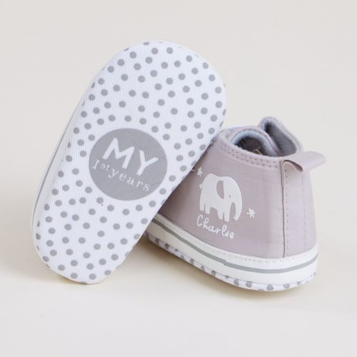 Personalised Elephant Design Baby High Top Shoes