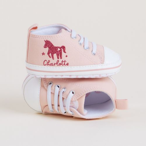 Personalised Unicorn Design Baby High Top Shoes