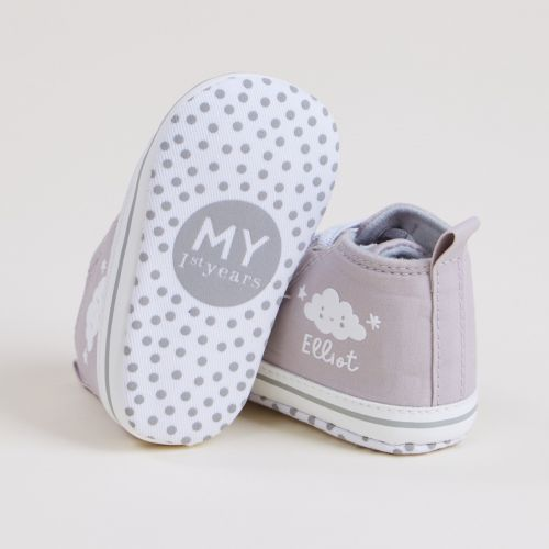 Personalised Cloud Design Baby High Top Shoes