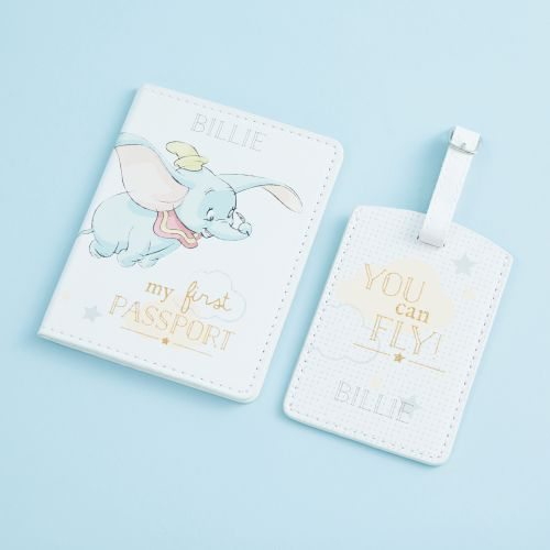 Personalised Disney Dumbo Passport holder & Luggage Tag Set