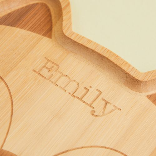Personalized Sass & Belle Fox Bamboo Plate