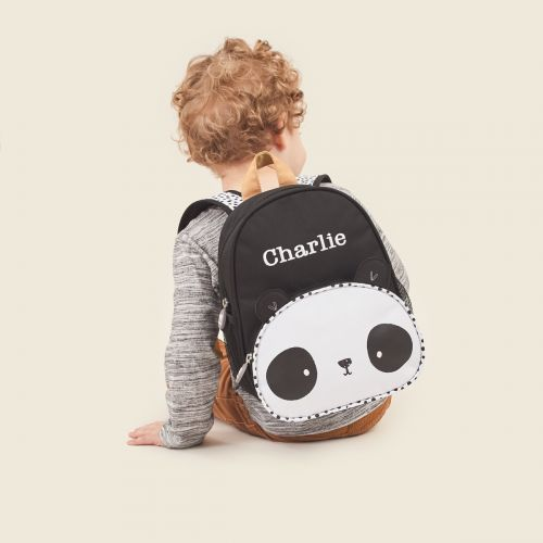Personalised Panda Design Mini Backpack
