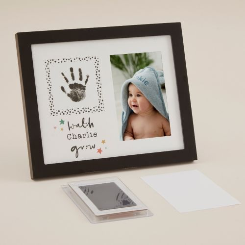 Personalised Mini Mono Baby Handprint Frame