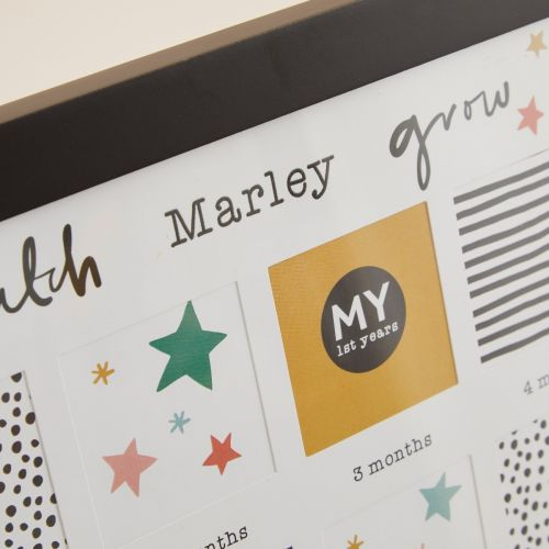 Personalised Mini Mono My 1st Year Photo Frame