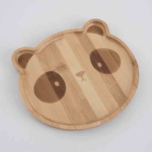 Panda Bamboo Suction Plate