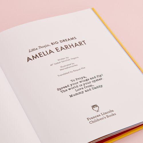 Personalised Little People, Big Dreams Amelia Earhart Book