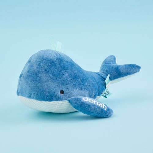 Personalized Blue Whale Soft Toy