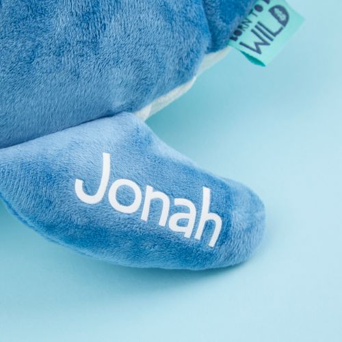 Personalised Blue Whale Soft Toy