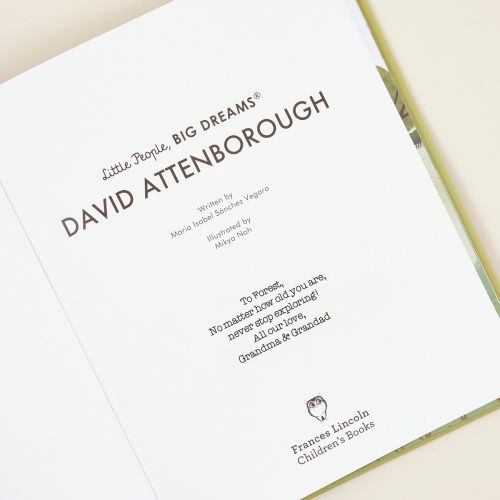 Personalised Little People, Big Dreams David Attenborough Book