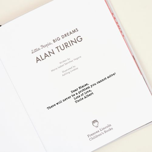 Personalised Little People, Big Dreams Alan Turing Book