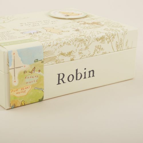 Personalised Classic Winnie The Pooh Baby Keepsake Box