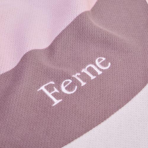 Personalised Pink Intarsia Striped Blanket